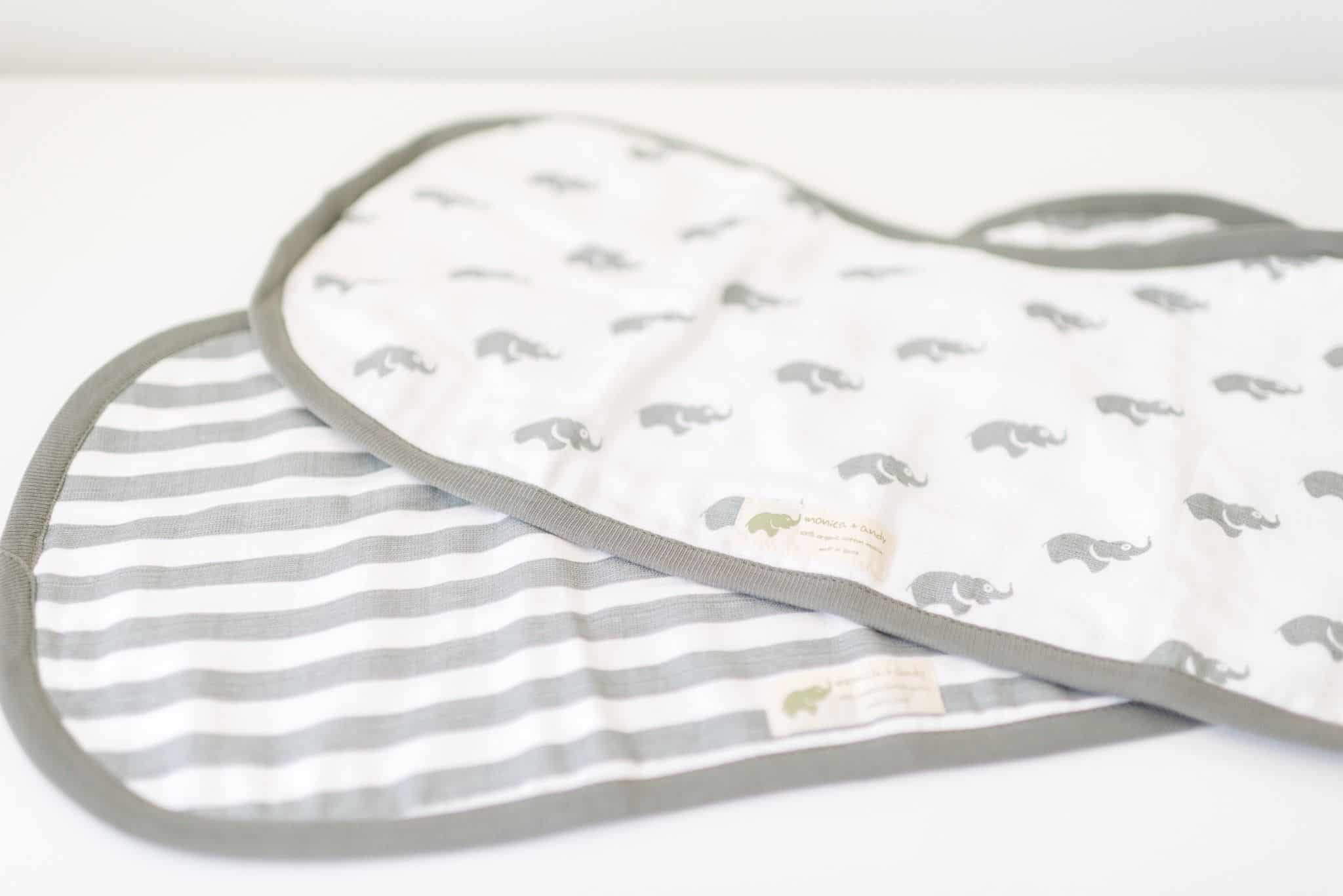 Monica & Andy Burp Cloths Baby Bib