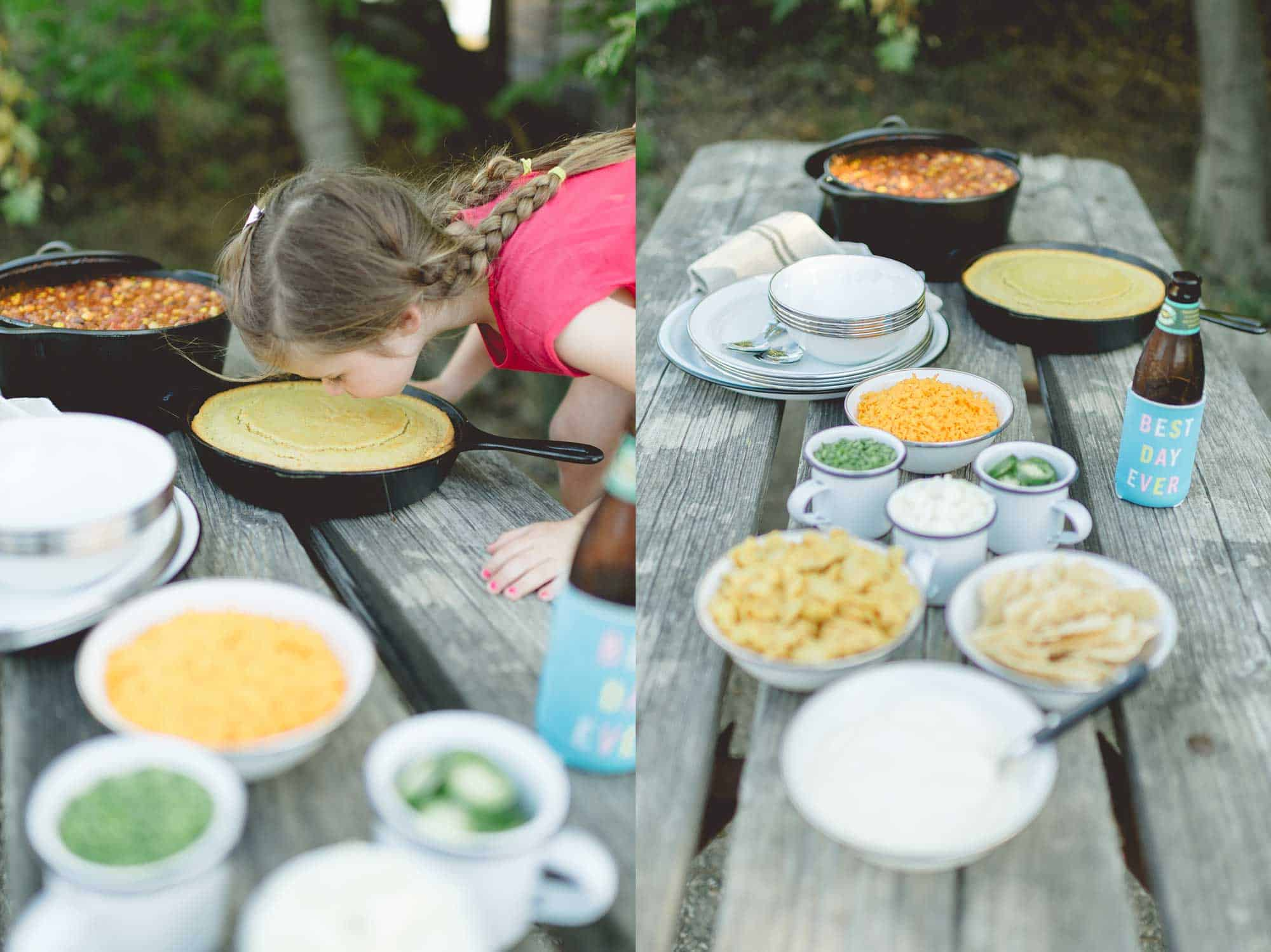 Chili & Cornbread by Tiffani Thiessen • Photography by Rebecca Sanabria