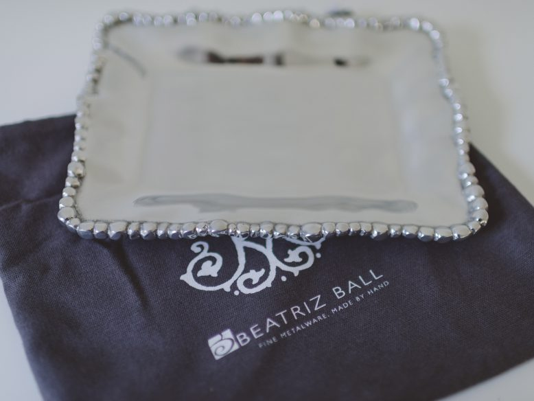 Beatriz Ball Metal Serving Tray - Dinner at Tiffani's Celebrity Crate