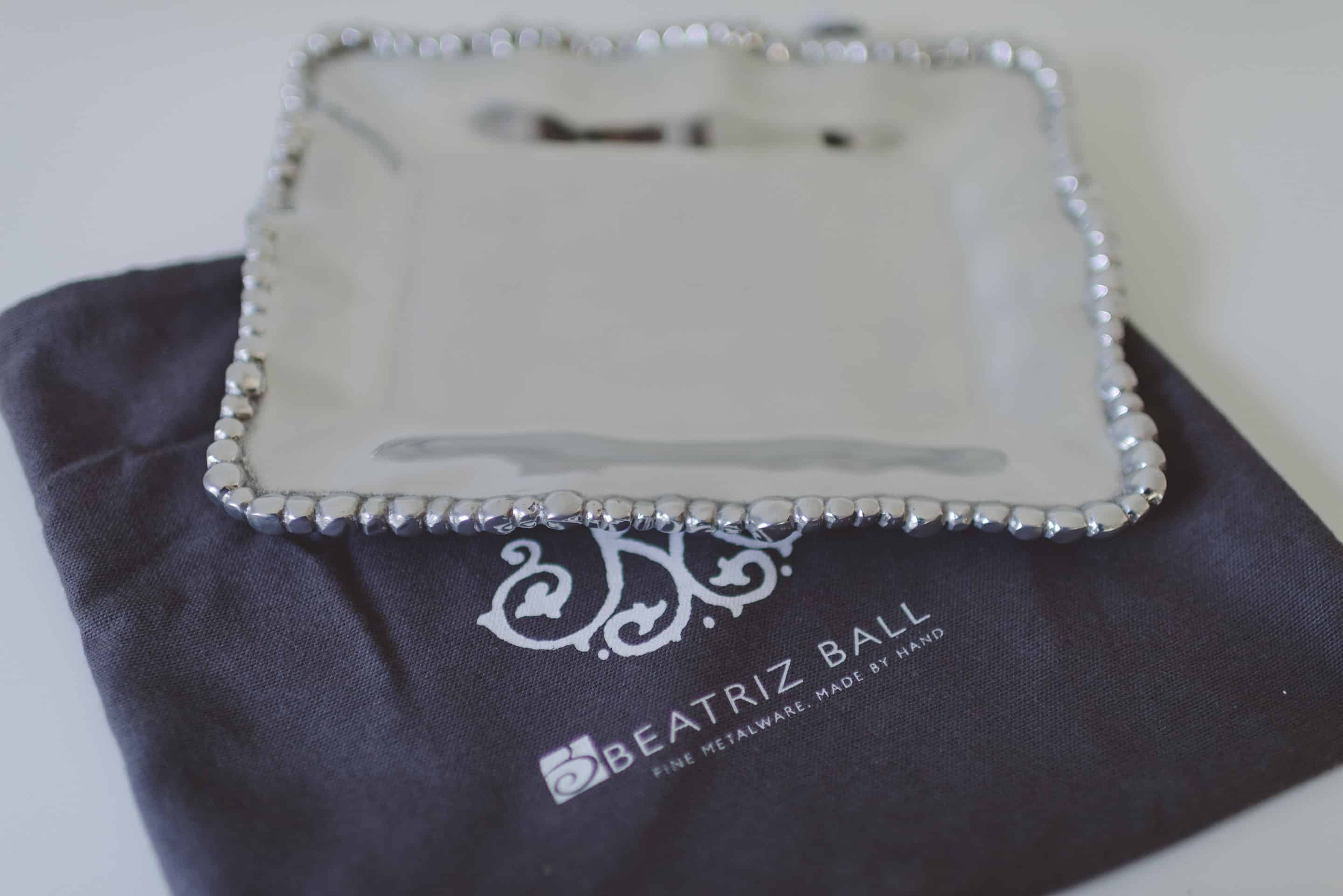 Beatriz Ball Metal Serving Tray - Dinner at Tiffani's Celebrity Crate