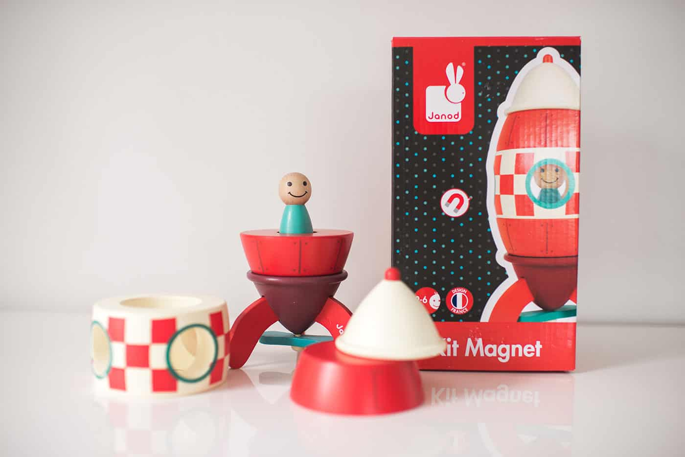 Tiffani Thiessen's Holiday Gift Guide 2016: For the preschooler (boy): Janod Rocket Magnet