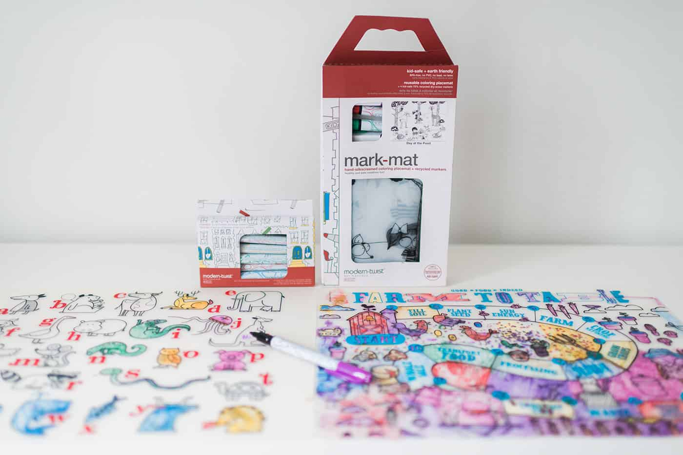 Tiffani Thiessen's Holiday Gift Guide 2016: For the preschooler (girl): Modern Twist silicone coloring placemat