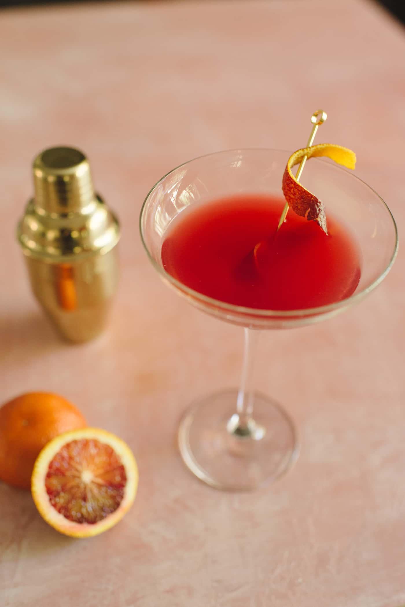 Blood Orange-Vanilla Martini Recipe by Tiffani Thiessen